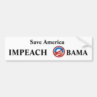 Beschuldig Obama Bumpersticker