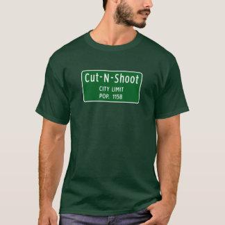Besnoeiing-n-spruit, de Teller van de Weg, Texas, T Shirt