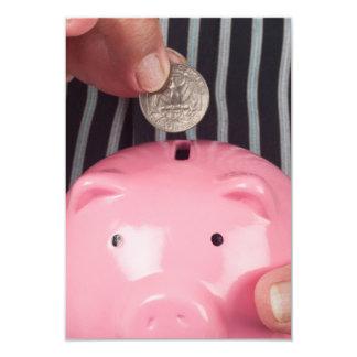 Besparing voor pensionering 8,9x12,7 uitnodiging kaart