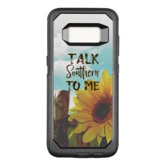 Bespreking Zuidelijk aan me Citaat met Zonnebloem OtterBox Commuter Samsung Galaxy S8 Hoesje