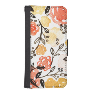 Bessen en Bloemen iPhone 5 Portemonnee Hoesje