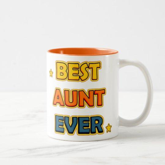 Best Aunt ever Tweekleurige Koffiemok
