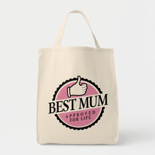 Best mum approved for life pink bag draagtas