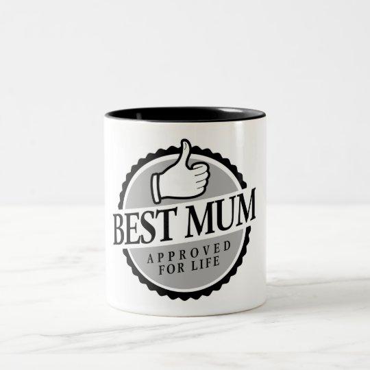 Best mum vintage tweekleurige koffiemok