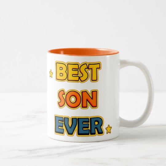 Best Son ever Tweekleurige Koffiemok
