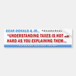 Beste Donald Taxes Bumpersticker