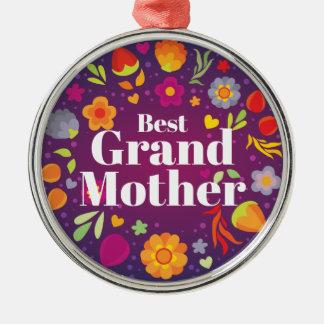 Beste Grootmoeder Zilverkleurig Rond Ornament