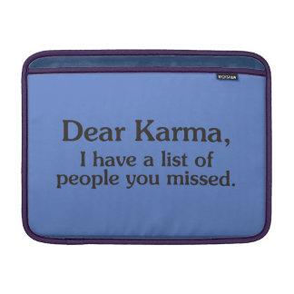 Beste karma heb ik een lijst van mensen u miste MacBook beschermhoes