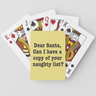 Beste Kerstman, de ongehoorzame speelkaarten van