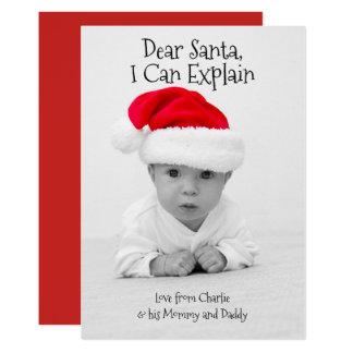 Beste Kerstman kan ik Gepersonaliseerde Kerstmis Kaart