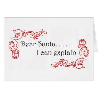 Beste Kerstman kan ik verklaren notecard Briefkaarten 0