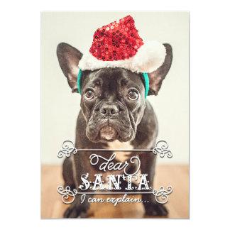 Beste Kerstman kunnen wij de Kaarten van de Foto 12,7x17,8 Uitnodiging Kaart