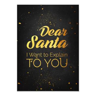 Beste Kerstman, wil ik aan u verklaren Kaart
