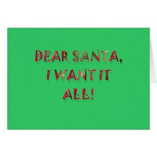 Beste Kerstman wil ik het allen Briefkaarten 0