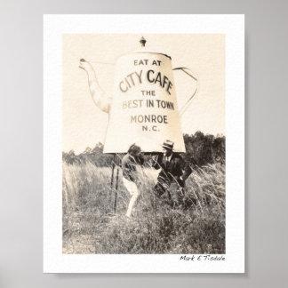 Beste Koffie in Monroe Noord-Carolina - 1929 - Poster