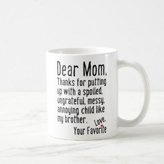 Beste Mamma [de Versie van de Broer] Koffiemok