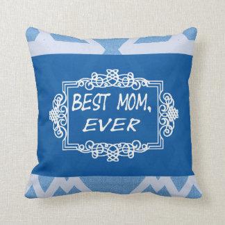 Beste mamma Elke Marineblauwe Gift van het Sierkussen