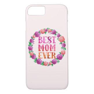 Beste Mamma ooit - BloemenKroon iPhone 8/7 Hoesje