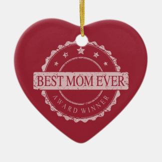 Beste Mamma ooit - de Toekenning van de Winnaar - Keramisch Hart Ornament