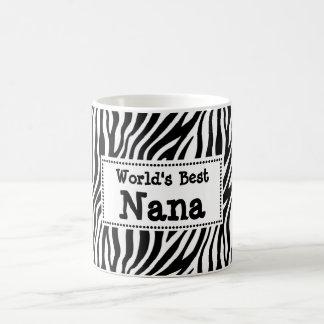 Beste Nana Mug van de wereld - de Gestreepte Stijl Koffiemok