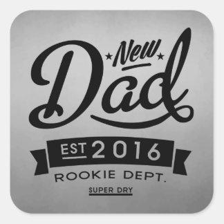 Beste Nieuwe Papa 2016 Vierkante Stickers