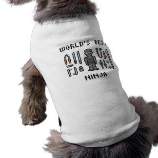 Beste Ninja van de wereld Mouwloos Hondenshirt