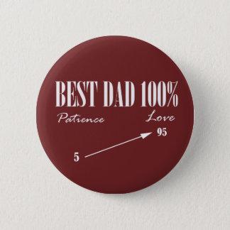 Beste Papa 100% Knoop van de Vader van het Geduld Ronde Button 5,7 Cm