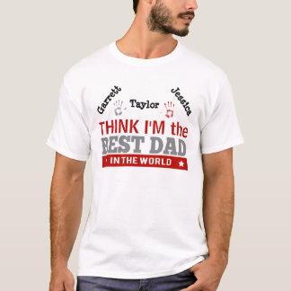 Beste Papa in de Douane van Argyle van de Wereld T Shirt
