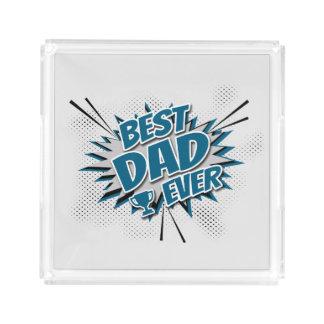 Beste Papa ooit Acryl Dienblad