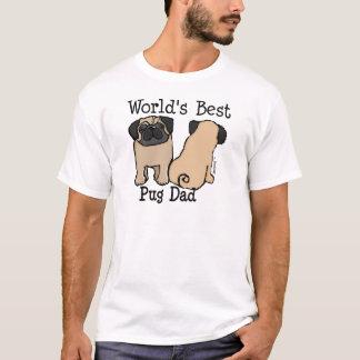 Beste Pug van de wereld Papa T Shirt
