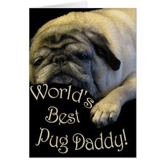 Beste Pug van de wereld Papa Wenskaart
