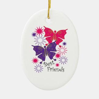 Beste Vrienden Keramisch Ovaal Ornament
