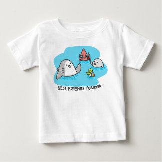 Beste vrienden voor altijd! baby t shirts