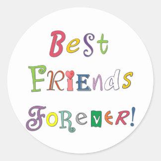 Beste Vrienden voor altijd Ronde Sticker