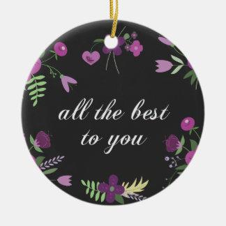 Beste wensen rond keramisch ornament