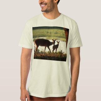 Beste/wit-De steel verwijderde van Herten en Fawn T Shirt