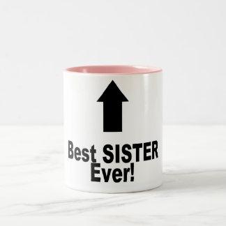 Beste Zuster ooit Tweekleurige Koffiemok