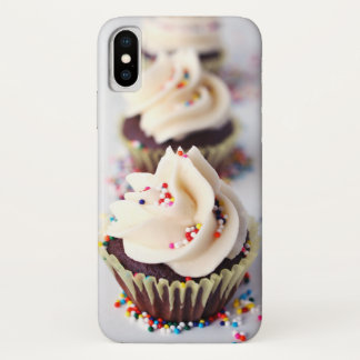 Bestrooi Cupcakes iPhone X Hoesje