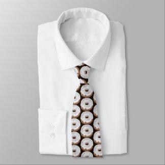Bestrooid vanille bevroren doughnut betegeld eigen stropdassen
