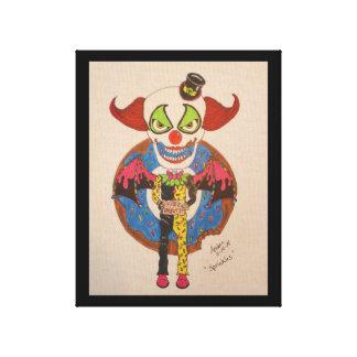 Bestrooit de Clown Canvas Print