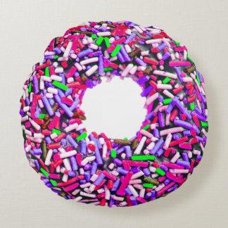 Bestrooit Groen van de Doughnut van de chocolade Rond Kussen