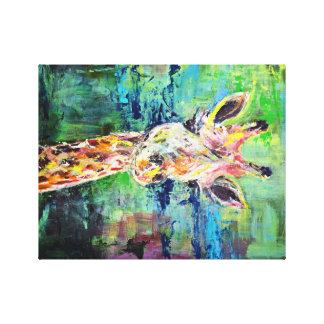 Bestudeer de Giraf Stretched Canvas Prints