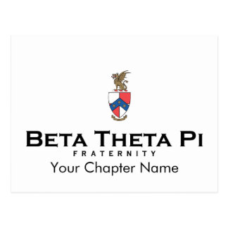 Bèta Theta Pi met CREST - Kleur Briefkaart