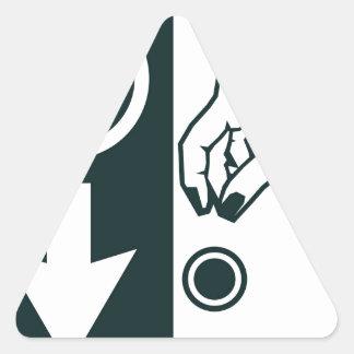Betaal aan het Teken van het Park Driehoek Stickers