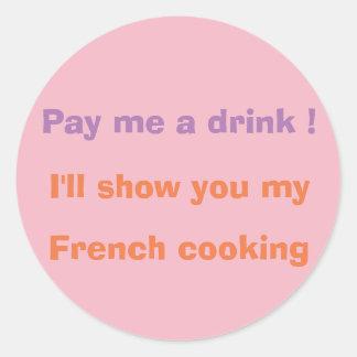 Betaal me een drank! ronde sticker