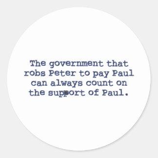 Betaal Paul Ronde Stickers