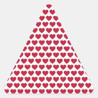 Betaalbare het Patroon van de Harten van de Driehoek Sticker