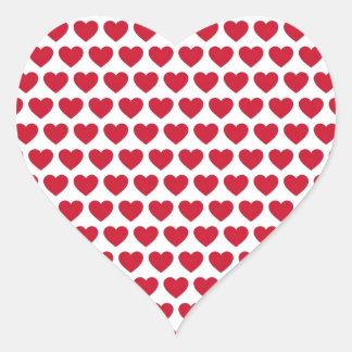Betaalbare het Patroon van de Harten van de Hart Sticker