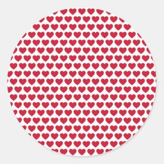 Betaalbare het Patroon van de Harten van de Ronde Stickers