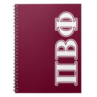 BètaPhi van pi Witte en Kastanjebruine Brieven Notitieboek